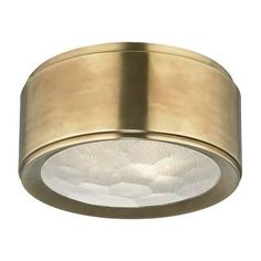 Hudson Valley Lighting Dalton 2 Light Brass Flush Mount