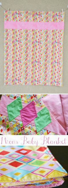 Bindless Baby Quilt