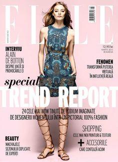 Cover ELLE Romania, March 2015 Cover, Romania, Shopping, Collection, March, Dresses, Fashion, Vestidos, Moda