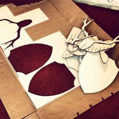 DIY Cardboard Deer Head by Alexander Bourke, via Behance