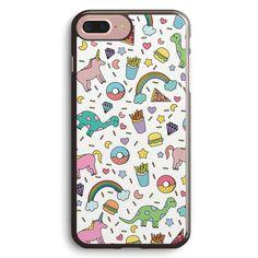 Dinosaurs and Unicorns Apple iPhone 7 Plus Case Cover ISVH384