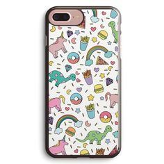 Dinosaurs and Unicorns Apple iPhone 7 Plus Case Cover ISVH384