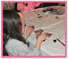 Artist Birthday Party Lip Gloss Art A Great Idea For 10 Year