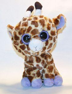 Safari 2011 TY Beanie Boos medium Buddy size 10in plush big eyes Giraffe 36905 #Ty