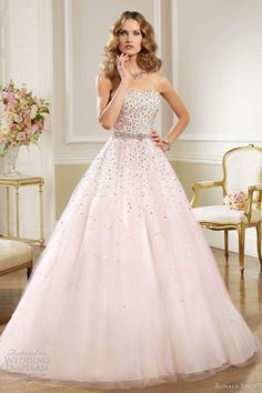 Ronald Joyce bridal 2013 strapless ball gown pink pale lilac wedding dress    @Candy Tsang, something i see you will wear ;p