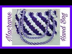 Easy Tutorial Of Macrame Hand Bag {Design No.2} in Hindi, Easy Making Method. - YouTube