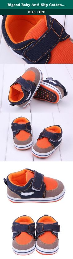 Bigood Baby Anti-Slip Cotton Cloth Strip Shoes Walking Sneakers Orange 12cm. Material: Cotton Cloth Size: Sole Length 12cm Color: As the Pictures Show These shoes are made from soft material and allows little feet to grow freely. They are soft and perfect for your precious one to learn how to walk, also has an anti-slip outer sole. These shoes fit perfectly the shape of your child's feet and wrap gentle. Great gift for your baby or your friend's. Color may vary slightly due to the color...