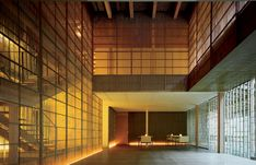 """This hotel designed by Kengo Kuma perfectly reflects Japanese culture: at once traditional, yet modern. It is located in the onsen (Japanese hot bath) of Ginzan in Japan's picturesque """"snow country"""". Kengo Kuma, Unique Hotels, Japanese Culture, Stairs, Traditional, Country, Outdoor Decor, Modern, Snow"""