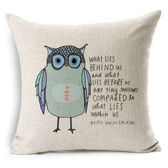Vintage Home Decor Cotton Linen Throw Pillow Cover What Lies Behind Us | Overstock.com Shopping - The Best Deals on Throw Pillows