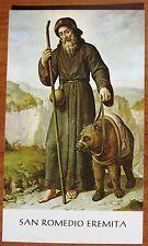 SANTINO di SAN ROMEDIO EREMITA - HOLY CARD - ESTAMPA - ANDACHTSBILD - lotto F