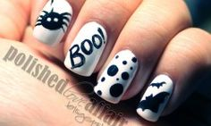 easy halloween nail designs