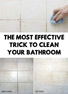 The Most Effective Trick to Clean Your Bathroom