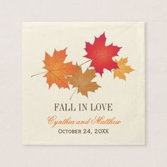 Wedding Monogram Napkins   Fall in Love