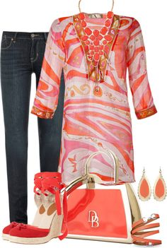 Tunic, jeans and espadrilles Love Fashion, Plus Size Fashion, Fashion Sets, Womens Fashion, Classy Outfits, Casual Outfits, Fashion Outfits, Style Work, My Style