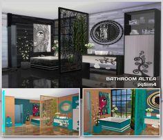 Altea bathroom by Mary Jiménez at pqSims4 via Sims 4 Updates
