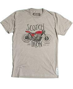 Cafe Racer Hand drawn vintage tee shirt t-shirt