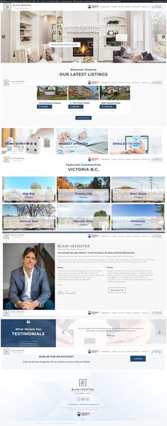 New WordPress website for Victoria Realtor Blair Veenstra of The House Selling Group. Real Estate Site, Wordpress, Victoria, Group, Website, House, Haus, Homes, Victoria Plum