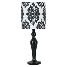 Room Accents - I have this in a teal like color.  love it.    Xhilaration® Lamp with Damask Shade - Black