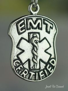 EMT Charm Emergency Medical Technician Badge by jewelbecharmed, $14.95
