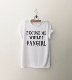 Fangirl Funny TShirt Tumblr Shirt Hipster Graphic Tees by CozyGal