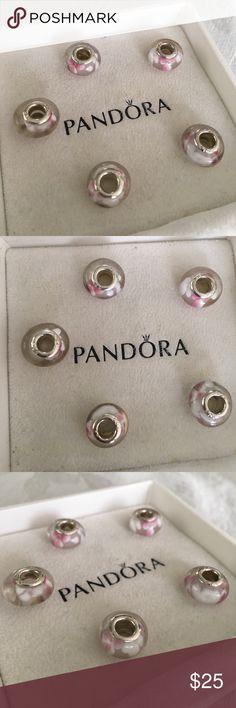 5 Flower Charm 5 charm // Flower Love  // fits a pandora bracelet // ships in a little cute box // engraved with 925 Pandora Jewelry Bracelets