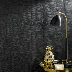 Black Wallpaper Bedroom, Dark Wallpaper, Peel And Stick Wallpaper, Black Textured Wallpaper, Wallpaper With Gold, Living Room Wallpaper Accent Wall, Renters Wallpaper, Backsplash Wallpaper, Plaid Wallpaper