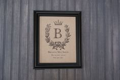 French Wreath Custom Birth Print by beehappybabies on Etsy