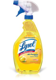 LYSOL®All Purpose Cleaner Triggercan be used on surfaces throughout the house — from the kitchen to the bathroom to household areas.