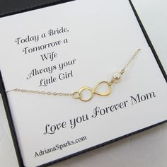 Madre della sposa bracciale Infinity regali di AdrianaSparksBridal