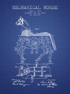 Kuvahaun tulos haulle blueprint horse