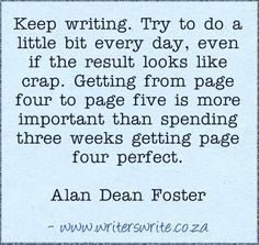 Getting from page four to page five - Alan Dean Foster - Writers Write Creative Blog