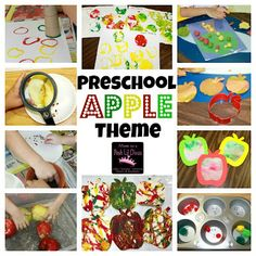 preschool apple theme week - lots of hands-on fun, crafts, science, math, fine motor, play dough, books & more learning ideas