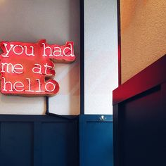 neon, quote, you had me at hello