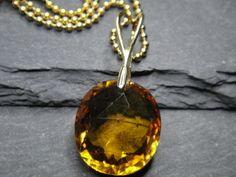 Citrin - Edelsteinanhänger & leuchtendes Orange in Gold - ein Designerstück von Pebbles-Schmuckdesign bei DaWanda