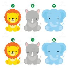 Safari Baby Animals Clipart / Jungle Animals by ClipArtisan