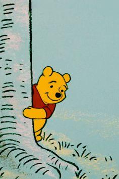 Pooh bear peek-a-boo