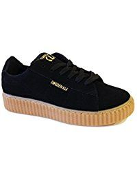 Creepers Mujer Casual Negro Sweden Kle