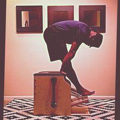 Night Rider @PilatesDwell_Canton   Low Chair Exercise: Tendon Stretch #latenightworkout #gettingstronger • #pilates #pilatesstudio #pilatesinstructor #pilatesformen #pilatesmen #contrology #classicalpilates #calisthenics #gymnastics #yoga #fitness #fedora