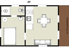 small log cabin floorplan