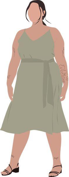 People Illustration, Vectors, Ms, Cold Shoulder Dress, Collage, Plant, Instagram, Ideas, Dresses