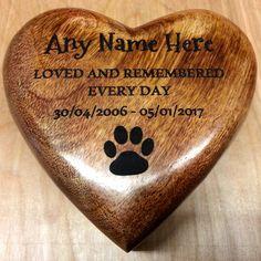 Large Medium Small Mango Wood Pet Urn Cremation Ashes Dog Pet Ash Box Personalised by PutItOnWoodPIOW on Etsy