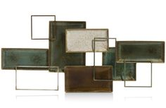 wanddeco Squares - metaal - 53 x 110 cm