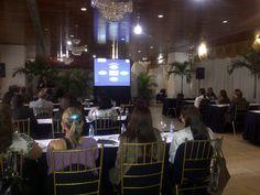 Servicios de Video y Sonido para Charlas, Conferencias y Mesas de Trabajo. Seguros Horizonte, Terraza Gaudi, IMPRE, Caracas.