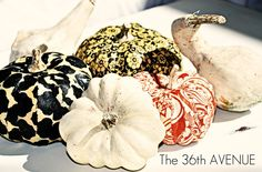 Mod Podge Pumpkins - a simple and classy way to decorate this Thanksgiving