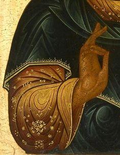 ГОСПОДЬ ВСЕДЕРЖИТЕЛЬ Россия, XIX в. Дерево, левкас, темпера. 31.2 x 26.3 см. The Temple Gallery Частное собрание 107481