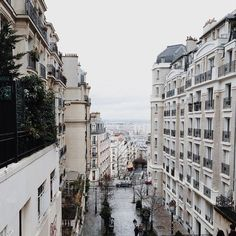 A rainy day in the city.