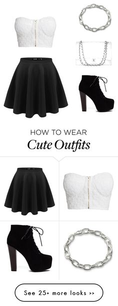 """Cute black & white outfit"" by elise-clement on Polyvore"