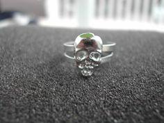 Adjustable Skull Ring Unisex Men's or by NAESBARGAINBASEMENT
