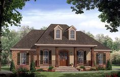 Dream house!!!  House Plan 59167 | Country European Traditional Plan with 2200 Sq. Ft., 4 Bedrooms, 3 Bathrooms, 2 Car Garage at family home plans