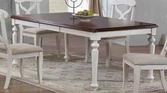 Sunset Trading Andrews Butterfly Leaf Table with Chestnut Finish Top Antique White >>> Learn more by visiting the image link.-It is an affiliate link to Amazon. #DiningSets